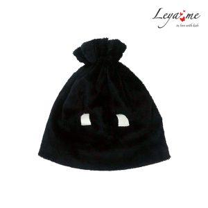Детская шапка из искусственного меха черная