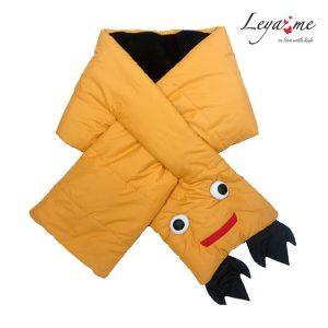 """Желтый шарф стеганый дутый """"Дино"""""""