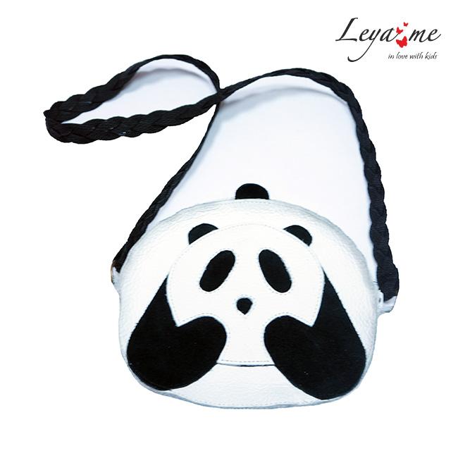 """Кожаная сумка для девочки """"Панда"""""""