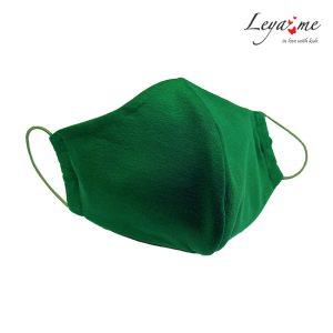 Маска пылезащитная тканевая двухслойная зеленая