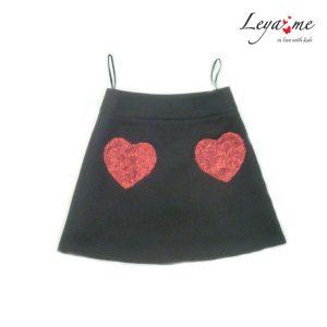 Юбка-трапеция детская с карманами-сердцами