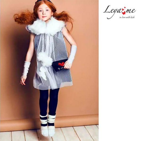 Платье-трапеция детская с пуделем