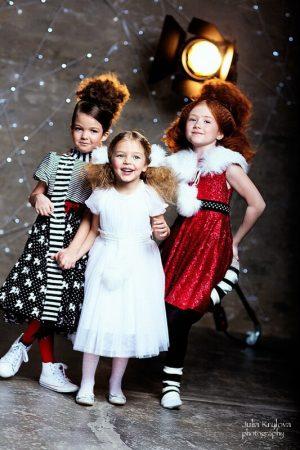 Платье-снежинка детское