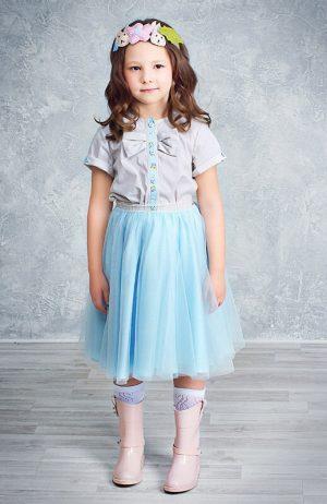 Юбка-пачкаиз фатина детская голубая