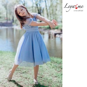 """Голубое нарядное платье """"Балерина"""" на девочку"""