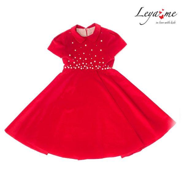 Платье красное бархатное детское