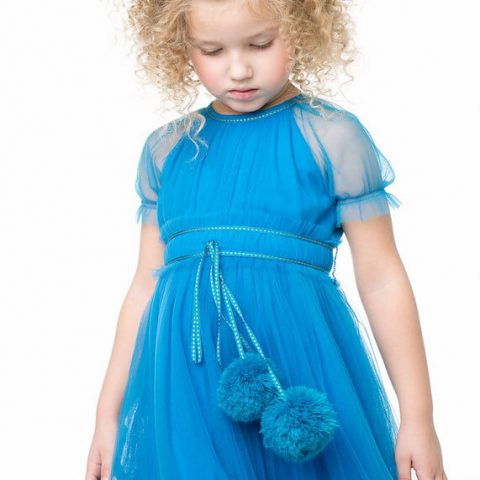 """Заколки детские """"Банты голубые"""", комплект 2 шт."""