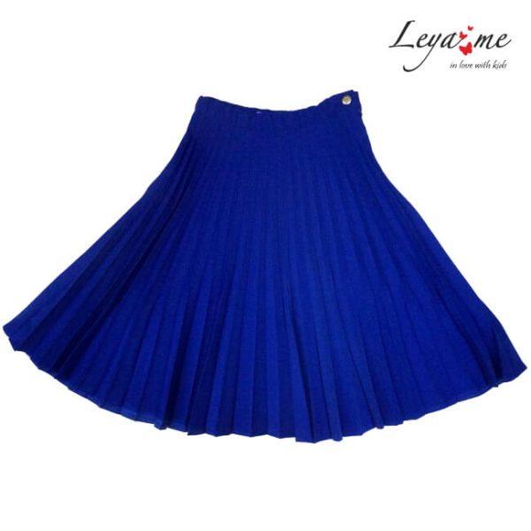 Юбка синяя плиссированная на девочку