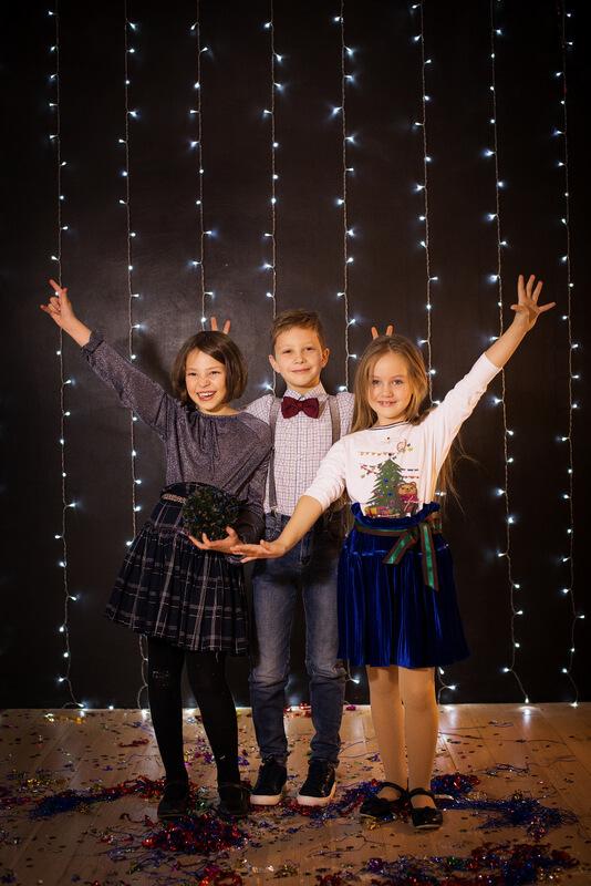 """Топ детский из трикотажа с принтом """"Мишка Тео новогодняя открытка"""" 2020 1"""