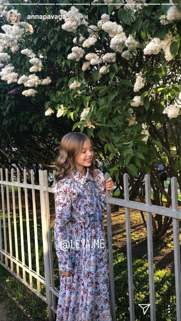 Платье детское с цветочным принтом 2021 1