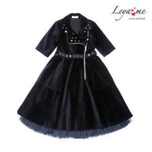 Платье косуха из бархата