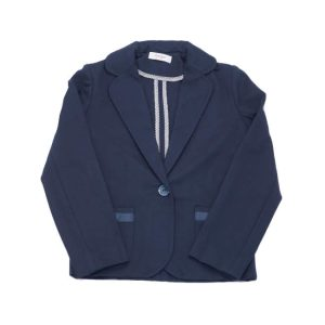 Синий школьный пиджак для девочки