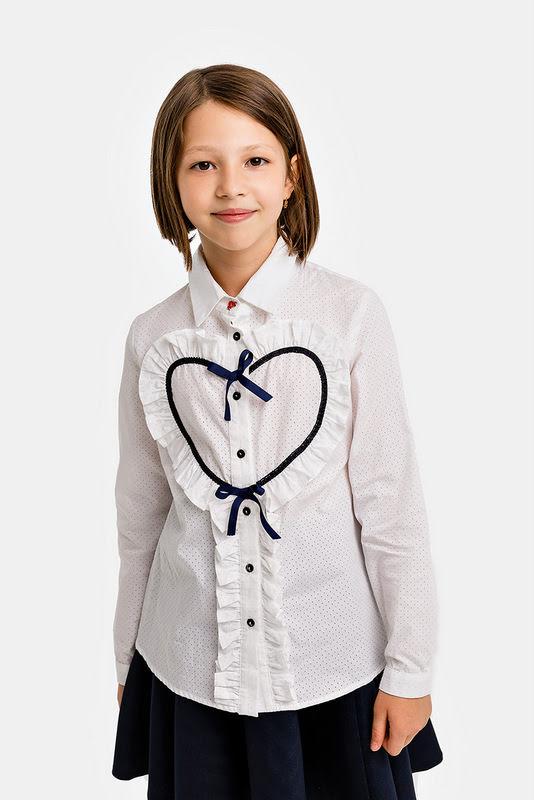 Синяя школьная юбка на кокетке с лямками