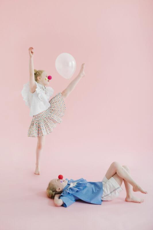 Пышная юбка из хлопка в разноцветный горошек на девочку 2020 1