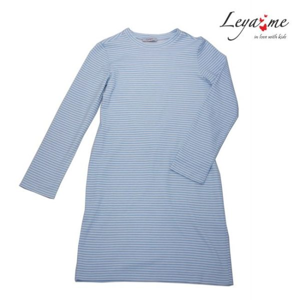 Платье-тельняшка детское в бело-голубую полоску