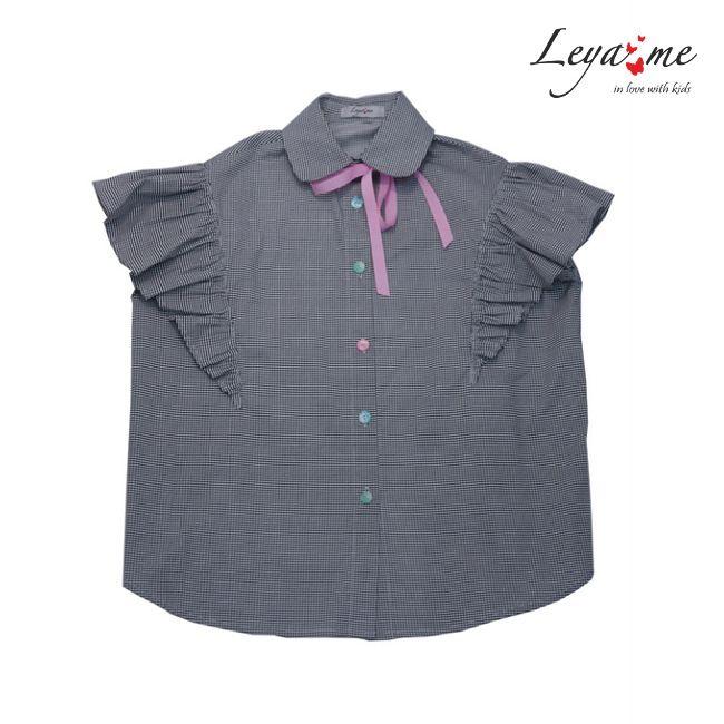 Рубашка детская серая с крылышками на девочку 2020 1