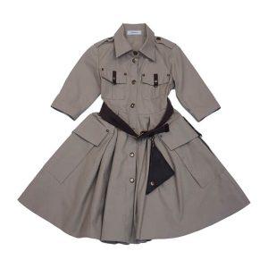 Детское платье-рубашка Сафари