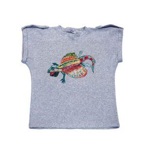 """Детская футболка с принтом""""Ящерица-дракон"""""""