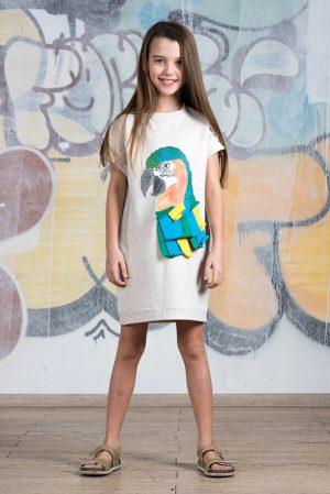 Детское платье-туника с принтом Ара