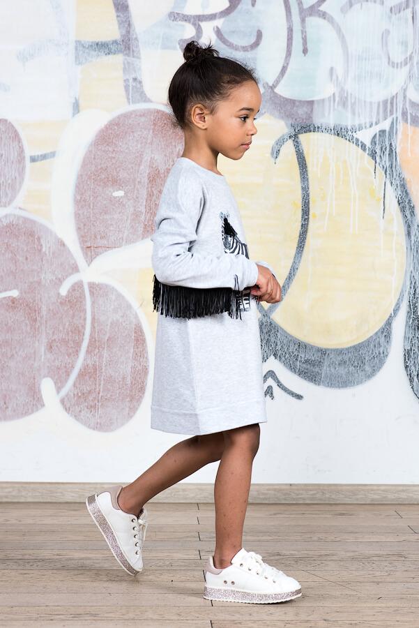 Детское платье-туника Зебра