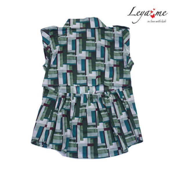 Яркая летняя блузка для девочки 2020 1