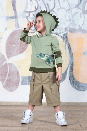 Шорты сафари бежевые с карманами на мальчика