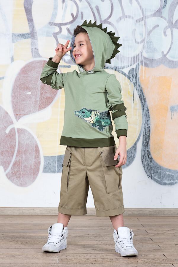 Шорты сафари бежевые с карманами на мальчика 2020 1
