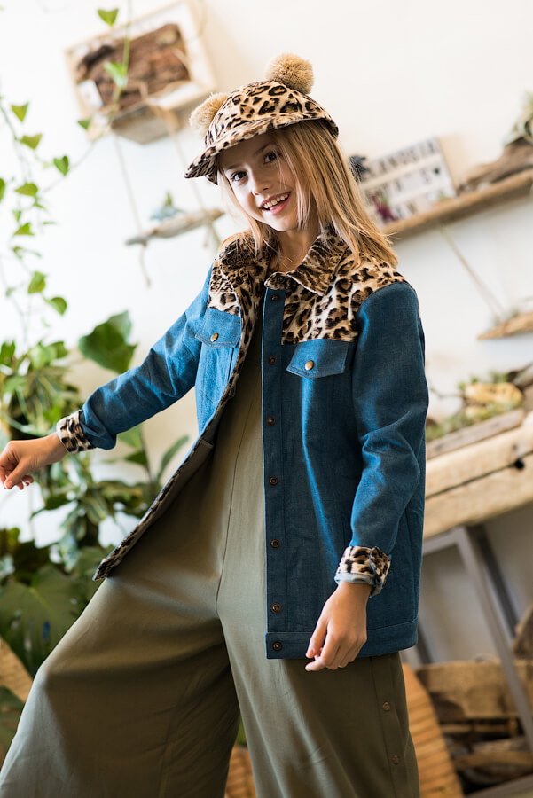 Кепка леопардовая детская