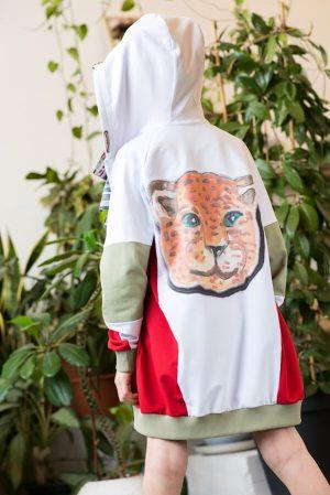 """Толстовка детская на молнии с капюшоном """"Леопард"""""""