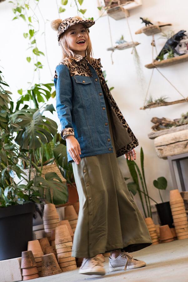 Куртка джинсовая детская комбинированная