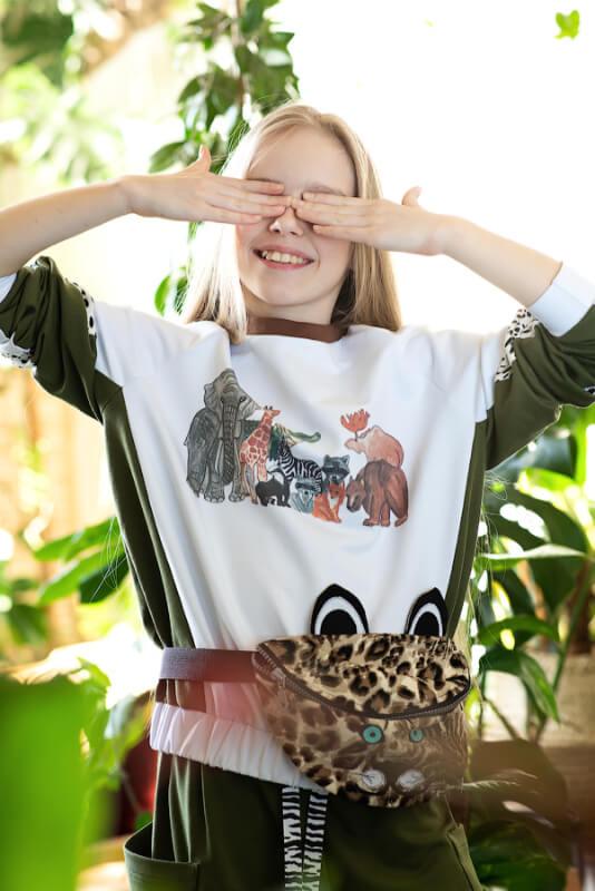 """Сумка поясная """"Леопард"""" детская 2021 1"""