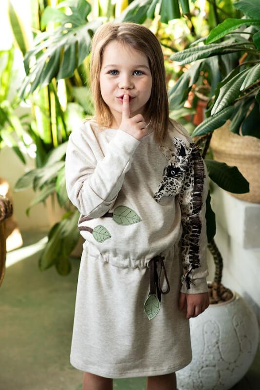 "Платье - туника ""Жираф"" на девочку"