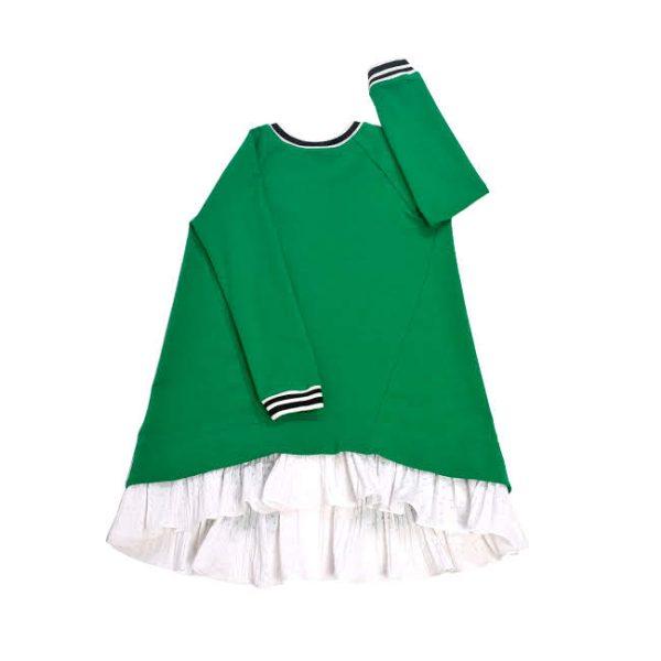 Зеленое платье для девочки