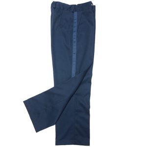 Школьные брюки для мальчика зауженного силуэта с лампасами, посадка по талии регулируется резинкой