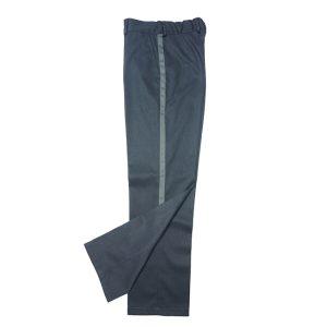 Серые школьные брюки с лампасами