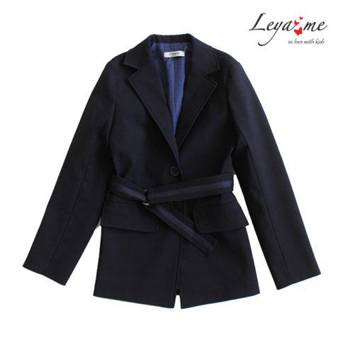 Удлиненный школьный синий пиджак для девочки