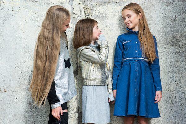 Джинсовое платье-рубашка на девочку