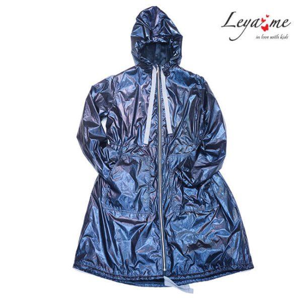 Куртка парка утепленная синяя на девочку 2020 1