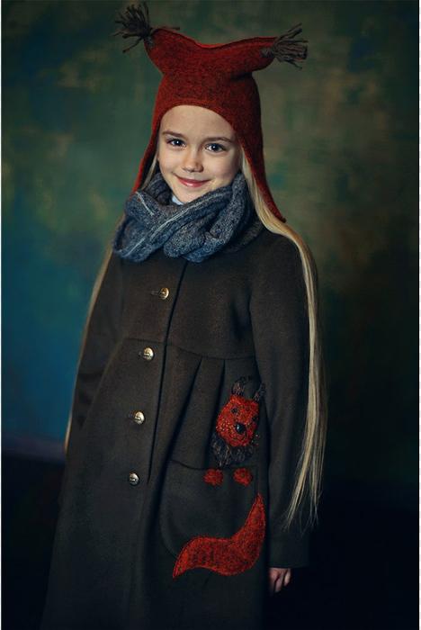 Серый детский шарф-снуд