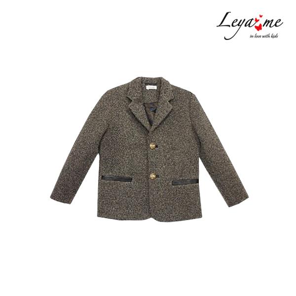 Теплый серый пиджак для мальчика