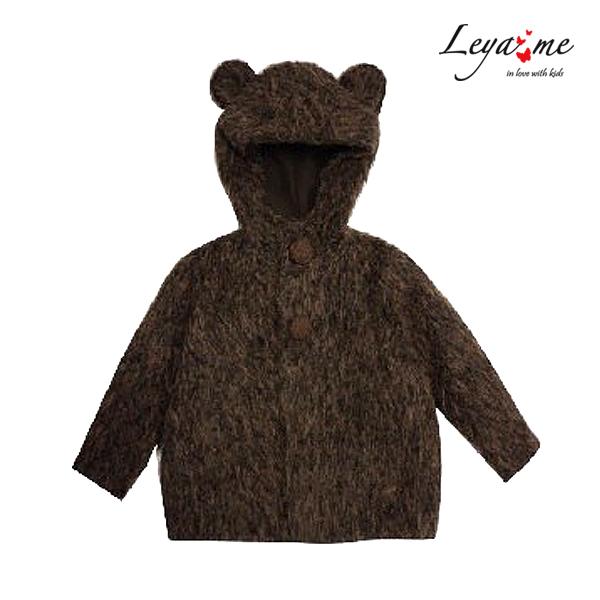Пушистое детское пальто-мишка